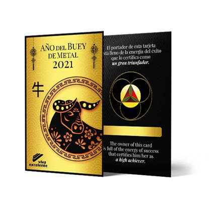 Foto de Tarjeta de la fortuna 2021: Año del Buey de Metal
